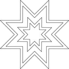 8 point star quilting template
