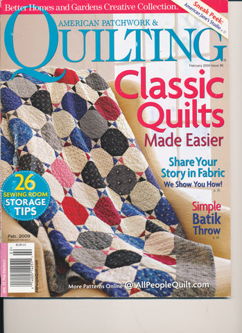 American Patchwork & Quilting Magazine February 2009 Issue 96