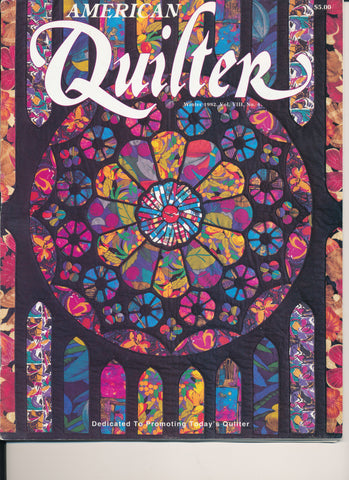 American Quilter Magazine Winter 1992 Vol VIII No 4