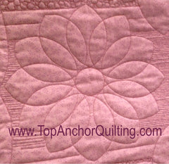 "Dahlia Blue 1/8"" thick Free Motion Quilting Template"