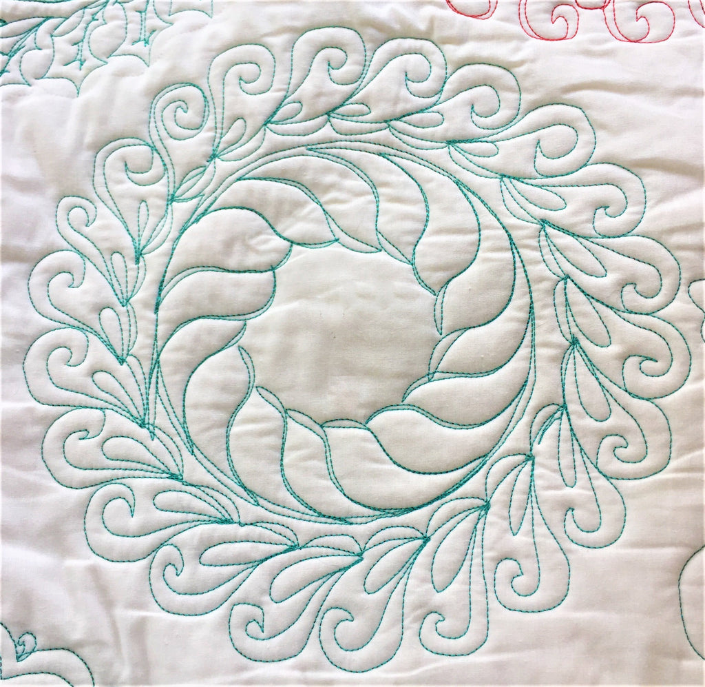 Feather Wreath Quilt Templates & Quilting Designs – TopAnchor ...