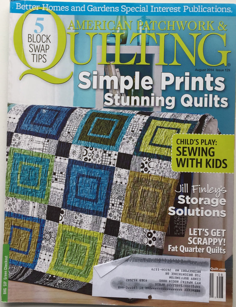 American Patchwork & Quilting August 2014 Issue 129