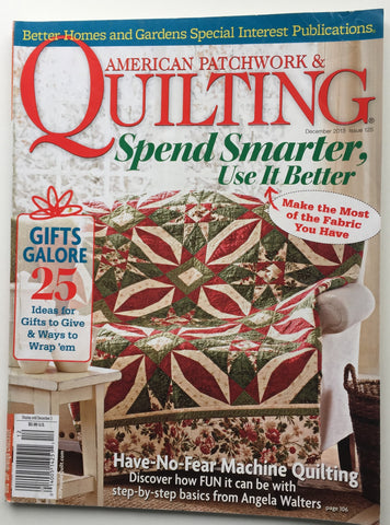American Patchwork & Quilting December 2013 Issue 125