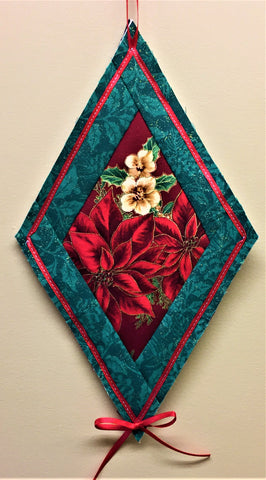 Quilt-As-You-Go Diamond Christmas Ornament Kit