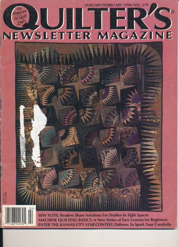 Quilter's Newsletter Magazine January/February 1996/No. 279