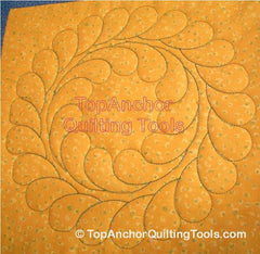 Feather Wreath Longarm Quilting Template (Being Redesigned)
