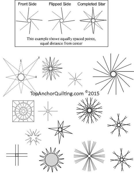 Star Quilting Templates Amp Patterns Topanchor Quilting Tools