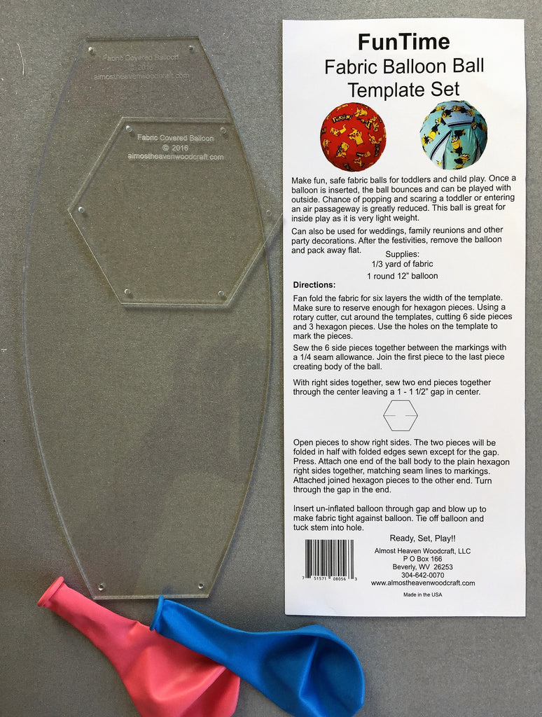 Balloon Cover Template Kit – TopAnchor Quilting Tools