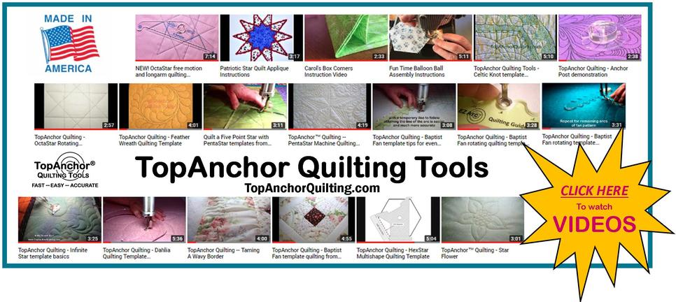 TopAnchor quilting templates, tools and accessories
