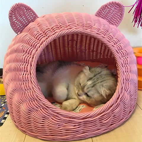 Woven Cat Cave & Bed