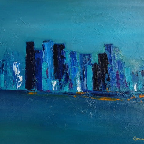 """Bleu Horizon"" by Corinne Domenge 