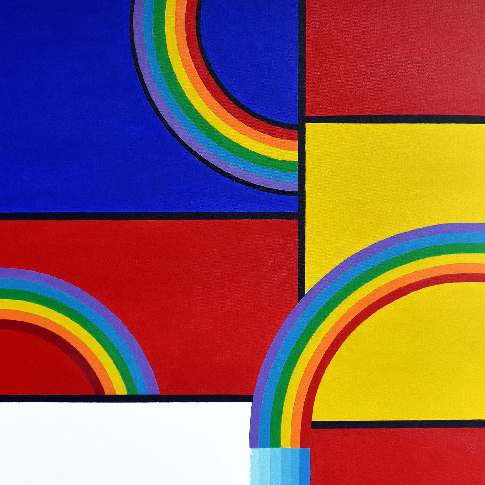 """Rainbow Mondrian"" by Phil Dynan 