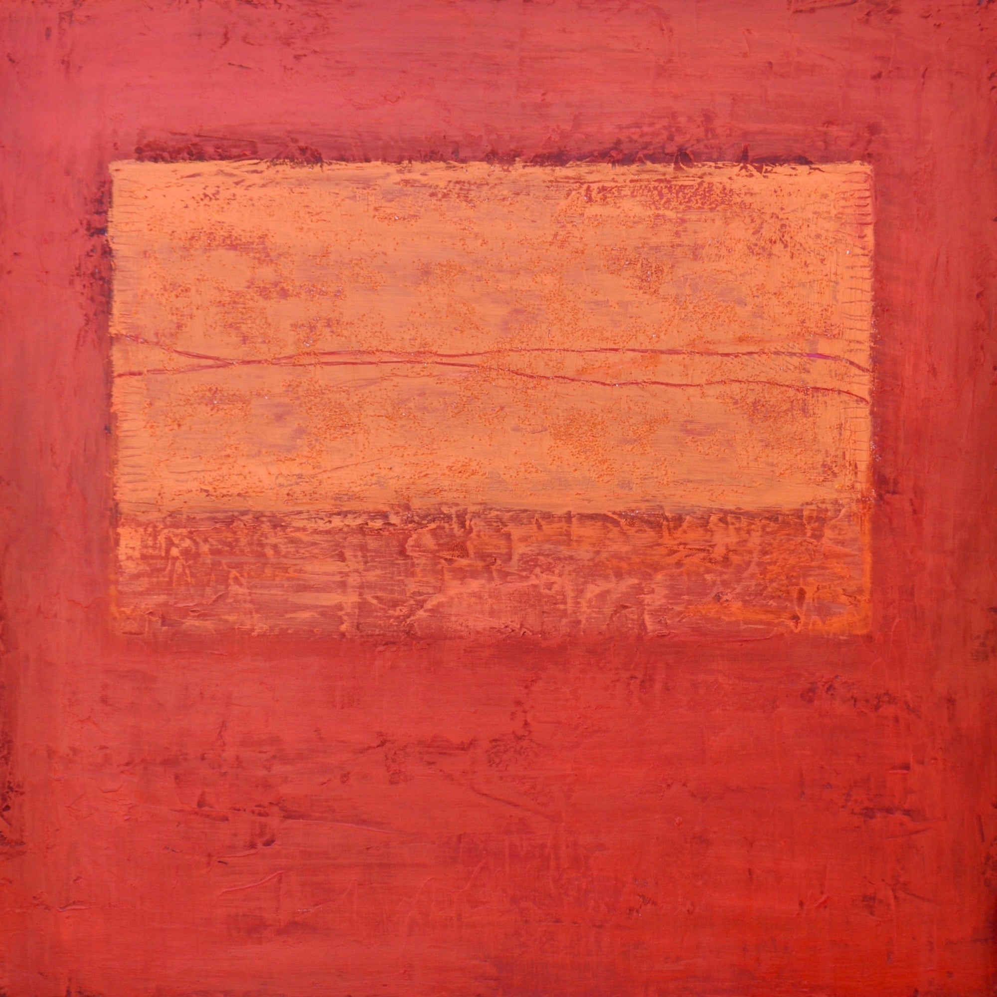 """Orange Cloud Descending"" by Peggy Hinaekian 