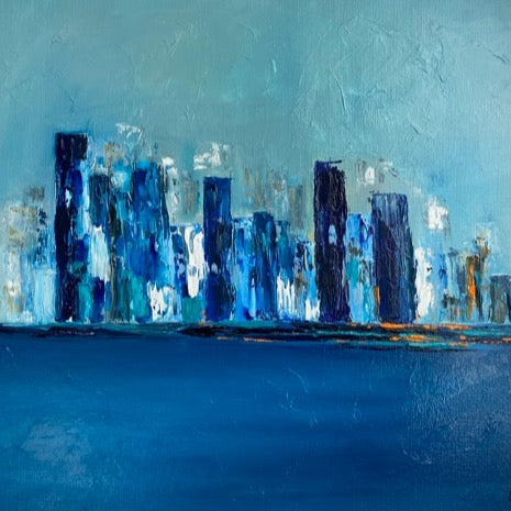 """Blue City"" by Corinne Domenge 