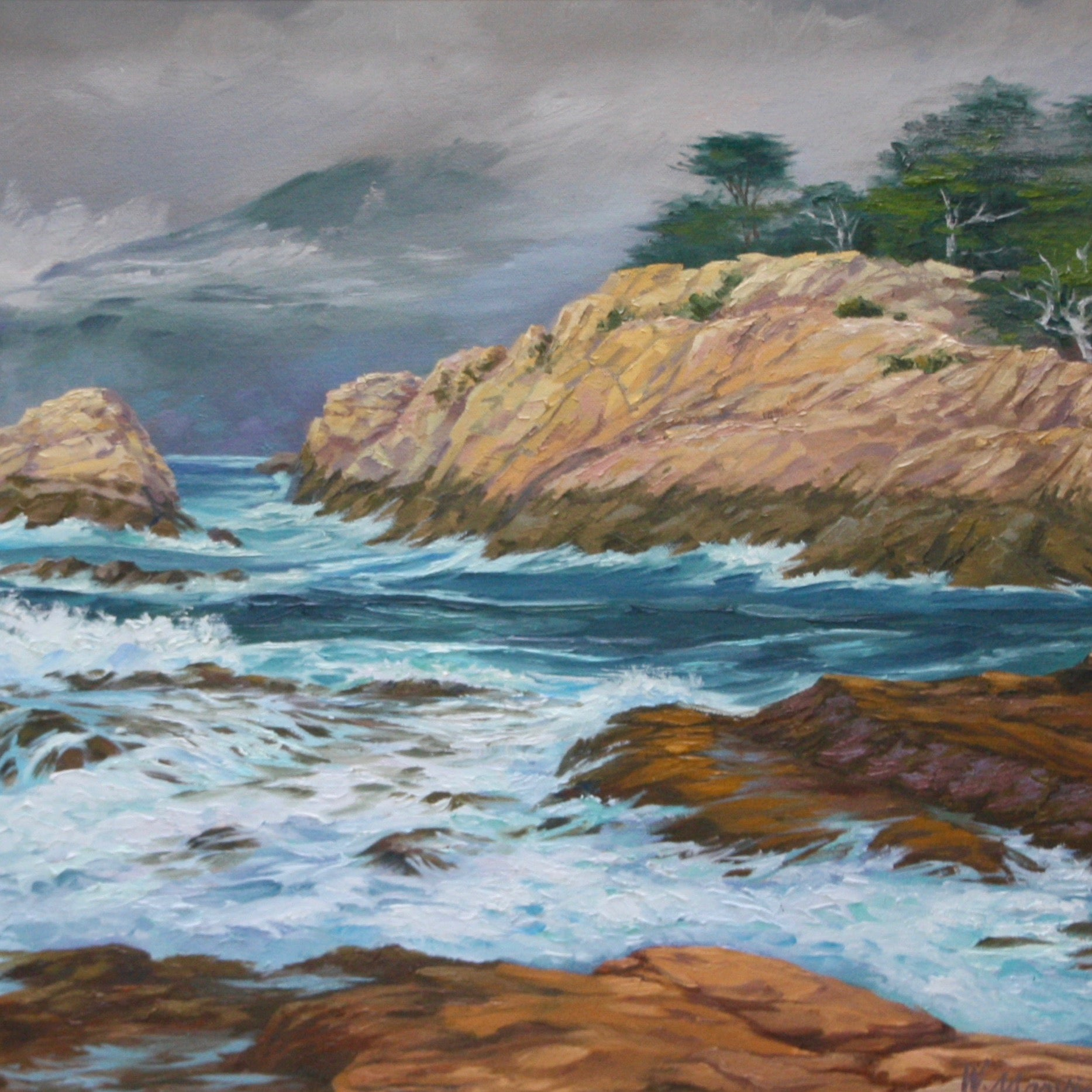 """Misty Day at Point Lobos"" by William Marvin 