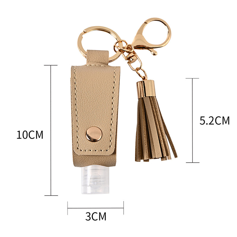 Hand sanitizer Case with Keychain + tassle