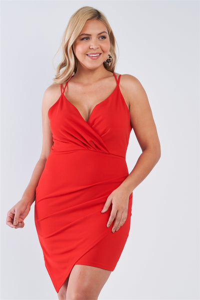 Plus Size Tie Back Wrap Dress