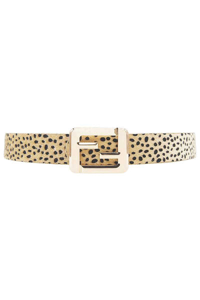 Leopard Fashion Square Letter Buckle Belt