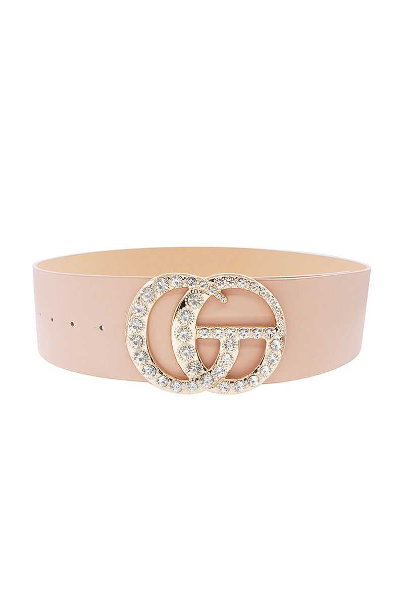 Multi Rhinestone Buckle Belt