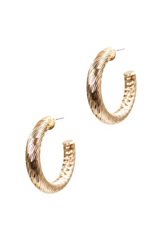 Cute Fashion Twisted 1.25 Inch Open Hoop Earring