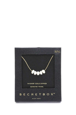 Secret Box Genuine Pearl Necklace