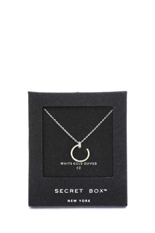 Secret Box Nail Charm Necklace