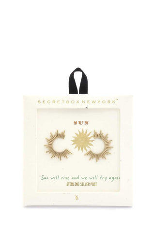 Secret Box Sun Shape Earring