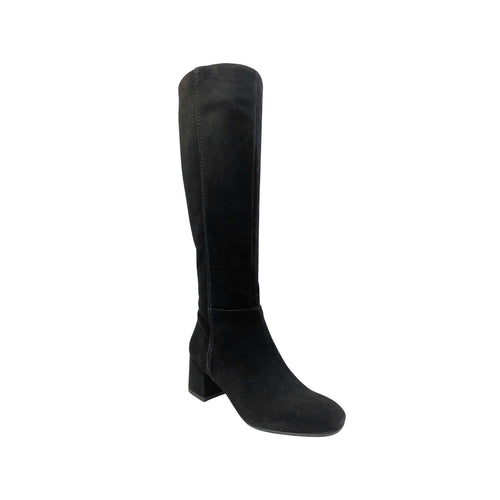 Neo Camosico Black Suede Knee High Boots