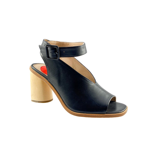 Zoe Kratzmann Exult Black Leather Block Heel