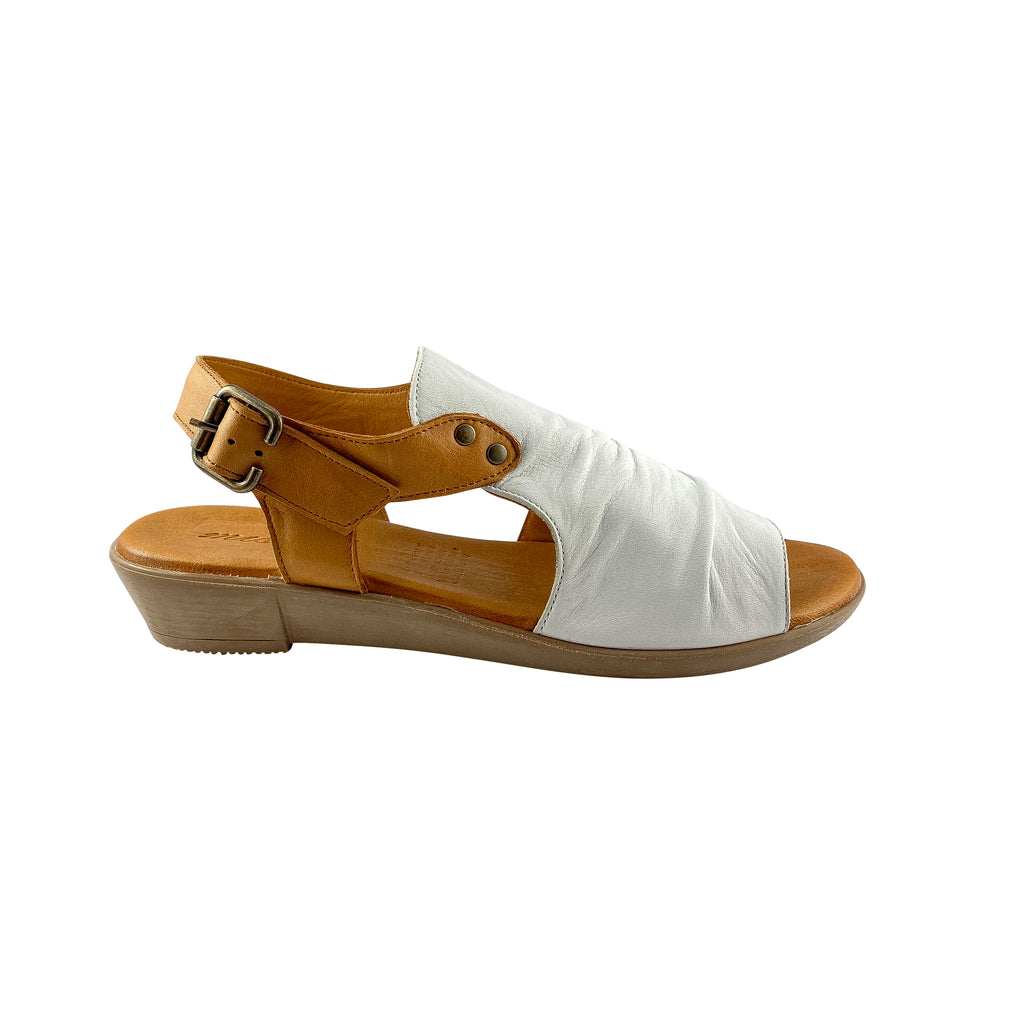 Miss M Aliah Ice White Leather Sandals