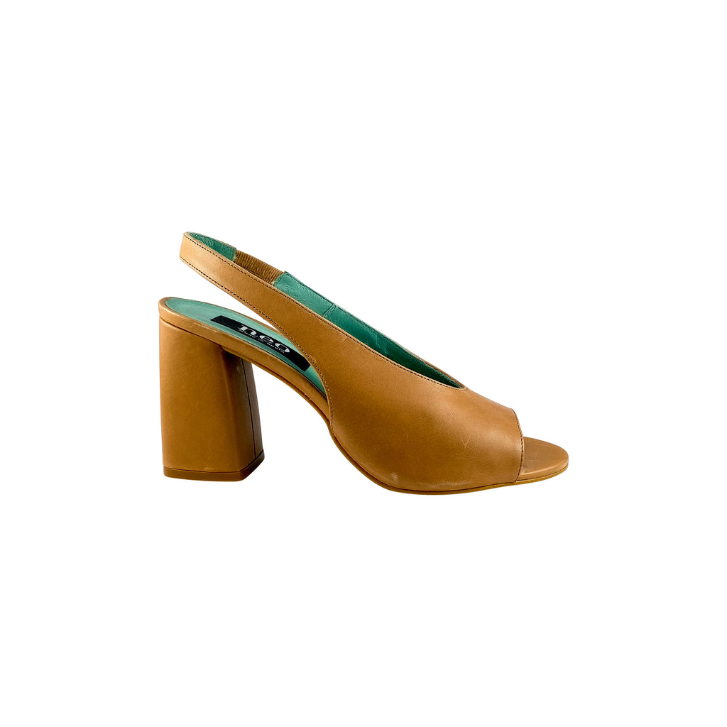 Neo 1824 Camel Leather Block Heel