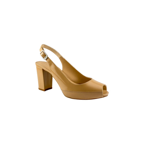 Unisa Nick Suntan Patent leather Block Heel