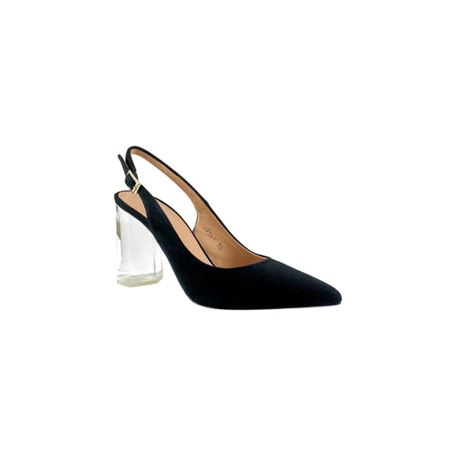 Estilo Polly Black Clear Block Heel