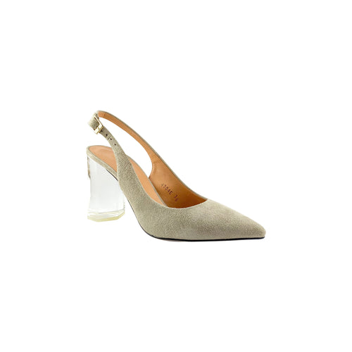 Estilo Polly Grey Clear Block Heel