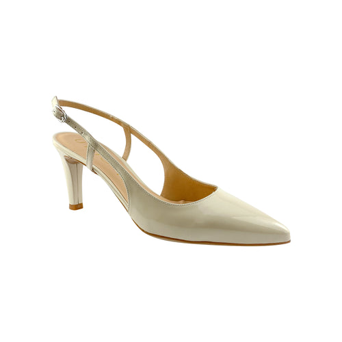 Unisa Keny Ivory Patent Leather Heel