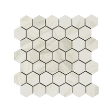 Load image into Gallery viewer, 2x2 Hexagon Volakas White Porcelain Tile