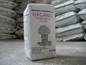 Stoate's Stoneground Organic Plain White Flour 1.5kg
