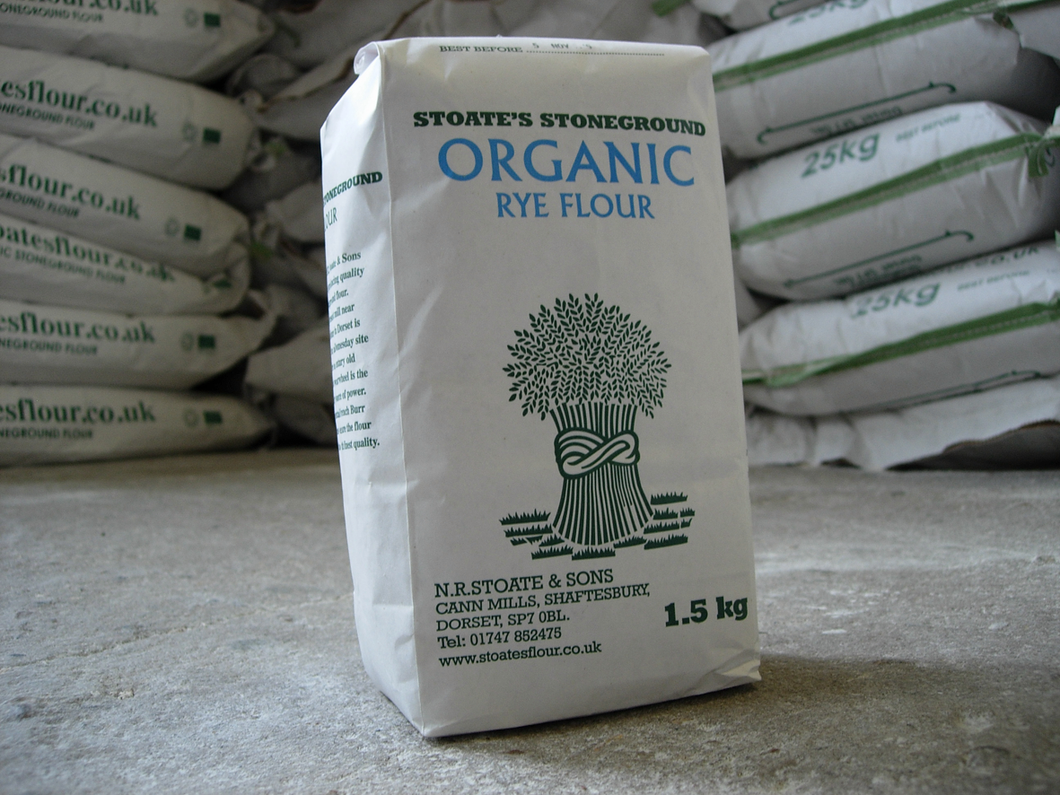 Stoate's Stoneground Organic Rye Flour 1.5kg