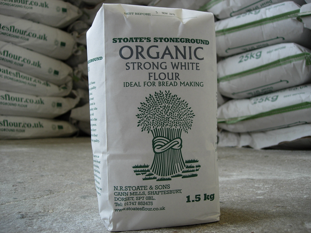 Stoate's Stoneground Organic Strong White Flour 1.5kg