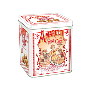 Lazzaroni Amarettini Cube Tin 75g