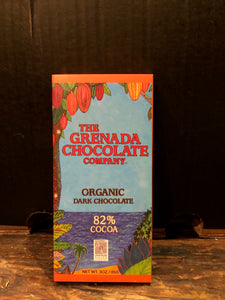 The Grenada Chocolate Company Organic Dark Chocolate 82% Cocoa 85g