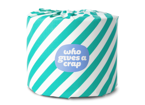 Who Gives A Crap 100% Recycled Toilet Paper - 3-ply - Double Length Roll