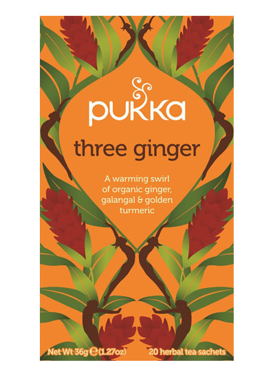 Pukka Three Ginger 20 Tea Sachets