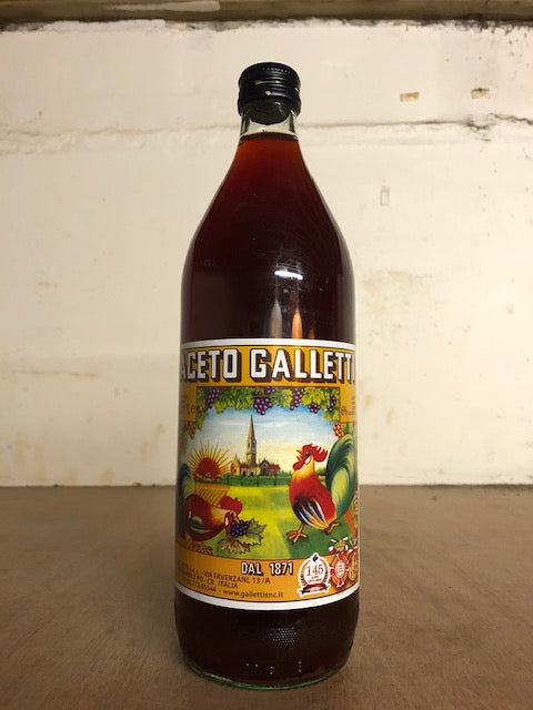 Aceto Galletti Italian Red Wine Vinegar 1L