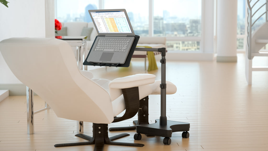 Gadget Review gave our LEVO Rolling Laptop Workstation Stand 4.8 ☆