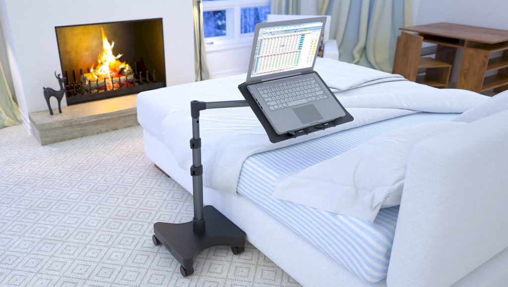 Work From Home Easier With A Rolling Laptop Stand