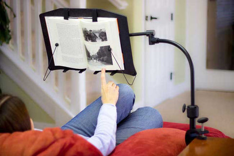 LEVO Corner Table Clamp Book Holder