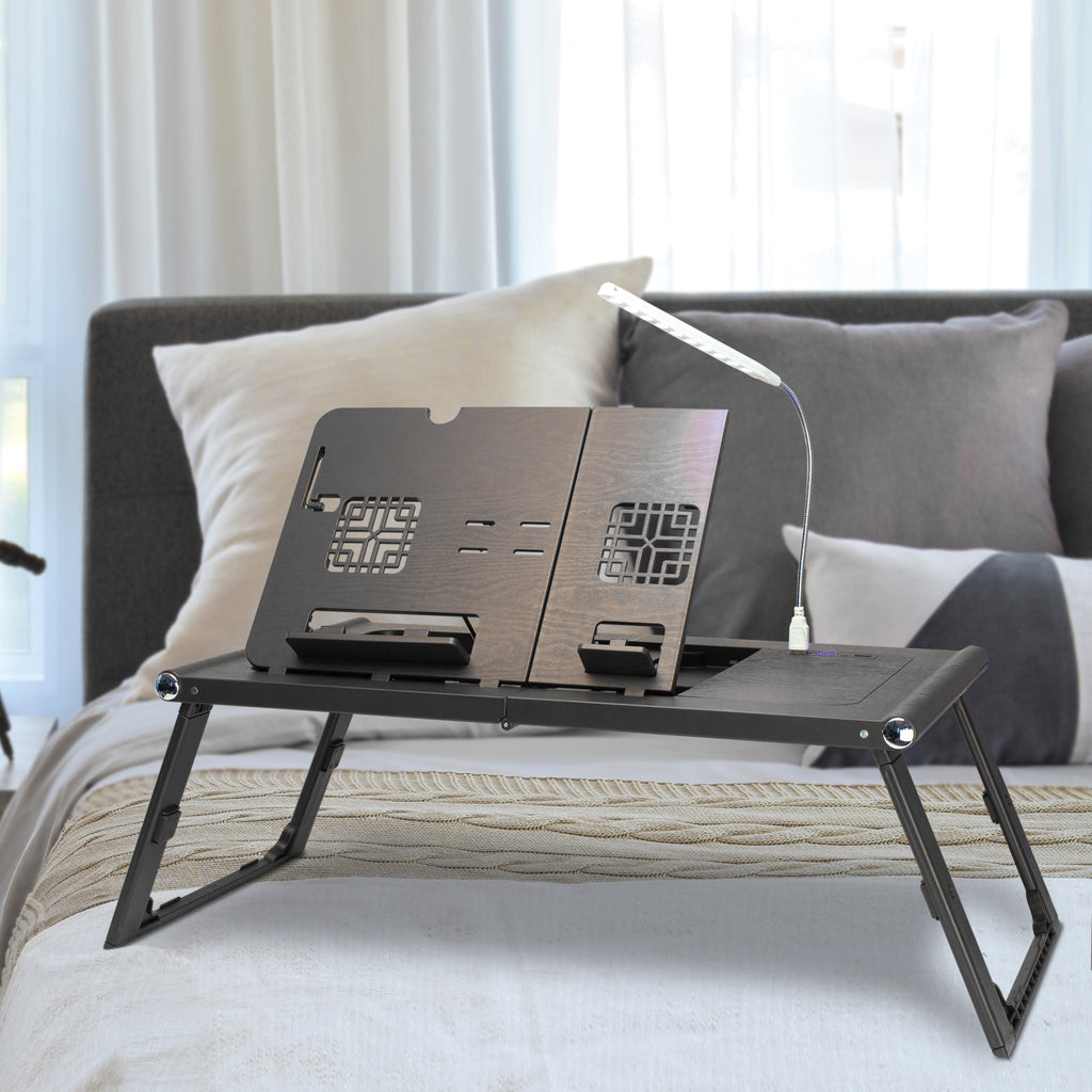 LEVO Bed Table With Rechargeable Power Bank