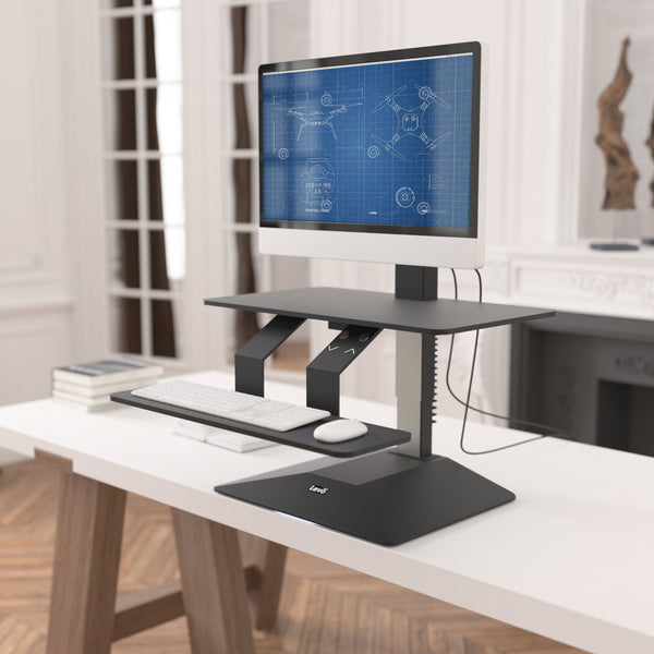 Levo Standing Desk Topper With Power Lift For Sit Stand