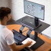 LEVO Standing Desk Topper with Power Lift for Sit Stand Comfort